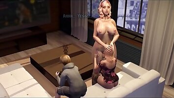 3D SHEMALE step Mom fucks Daughter - Futanari Family Stories Porn Video