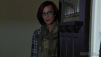 Tranny teacher fucks her y. student