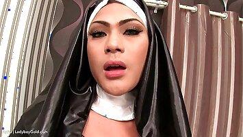 Ladyboy Anita Naughty Nun Bareback